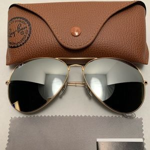 Ray-Ban Aviator Sunglasses RB3026 62-14mm 001/30